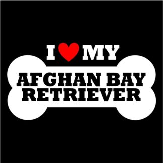 Afghan Bay Retriever Sticker for Indoor and Outdoor Use; Afghan Bay Retriever Decal
