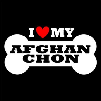 Afghan Chon Sticker for Indoor and Outdoor Use; Afghan Chon Decal